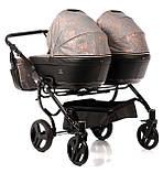 Универсальная коляска для двойни Tako Corona Duo 01 бронзовая, фото 5