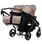 Универсальная коляска для двойни Tako Corona Duo 01 бронзовая, фото 10