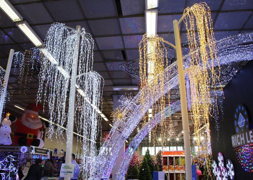 Гирлянда Пучок  по 3 м, 600 мини- LED  мигает 24 нить , ТОЛЬКО БЕЛЫЙ ХОЛОДНЫЙ, фото 1