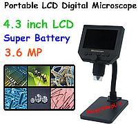 "Микроскоп цифровой 600Х с монитором LCD 4.3"" и стойка. Portable LCD Digital Microscope"