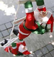 Новогодние Фигуры Деда Мороза 35 см на лестнице фигурки Санта Клауса