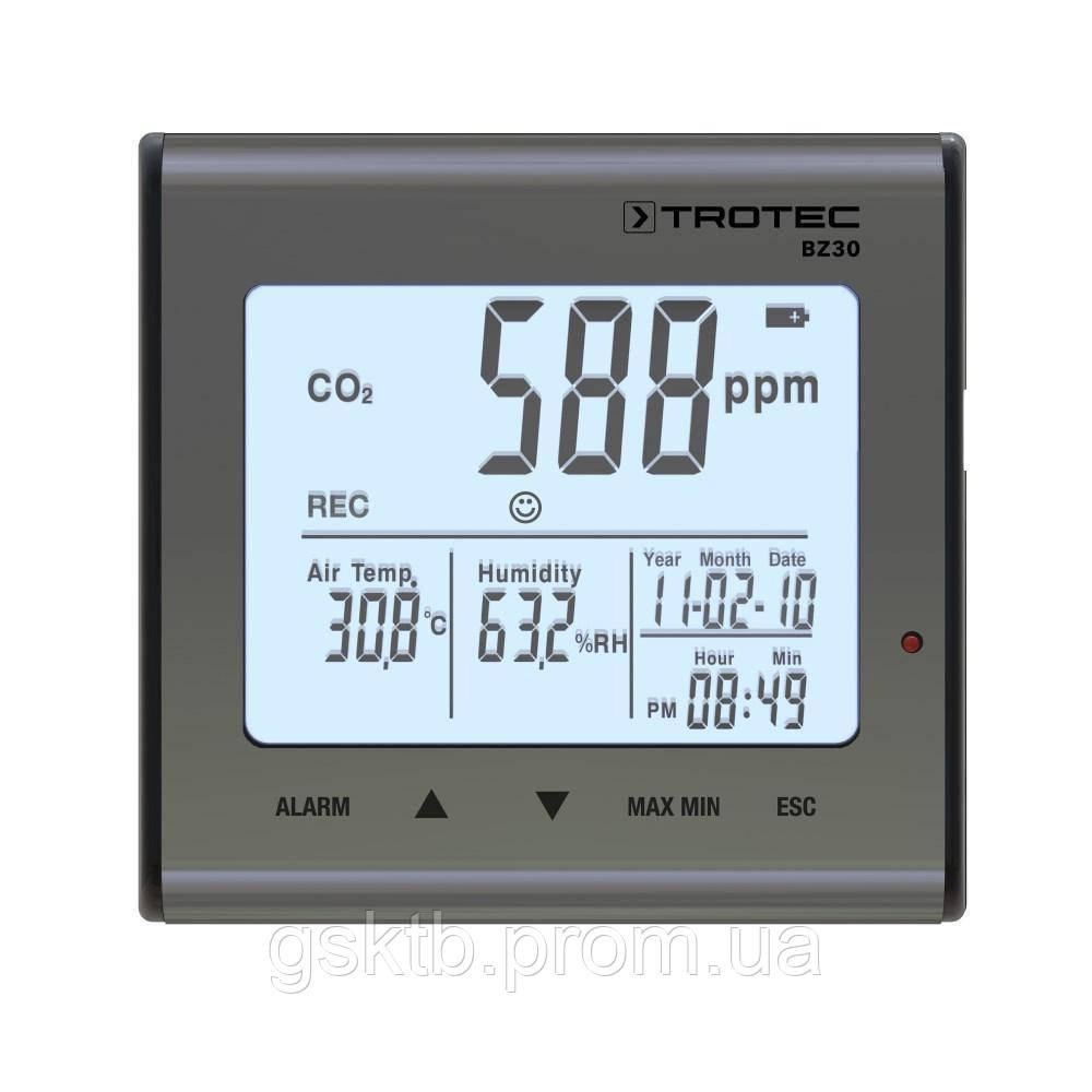 Анализатор и регистратор влажности, температуры и СО2 Trotec BZ30  (Германия)