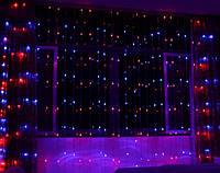 Гирлянда новогодняя Xmas (Водопад) 400 лампочек Мультицветная