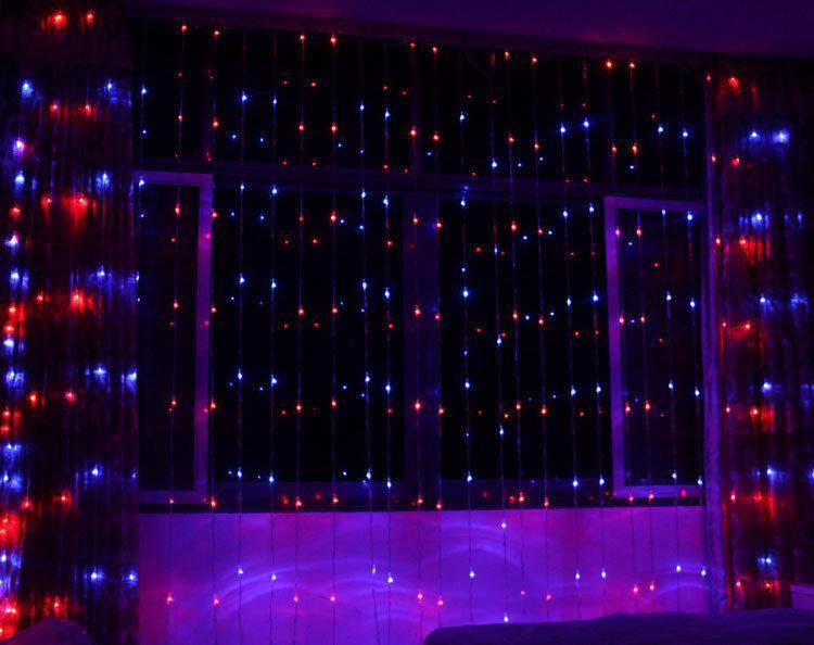 Гирлянда новогодняя Xmas (Водопад) 400 лампочек Мультицветная, фото 1