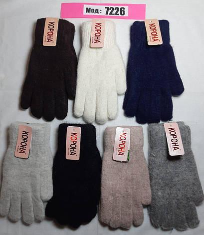 Ангорка женские перчатки Зима, двойные, фото 2
