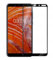 Защитное стекло Full screen PowerPlant для Nokia 3.1 Plus, Black