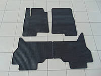 Коврики в салон резиновые для Mitsubishi Pajero Wagon 07-, Polytep, комплект 4шт