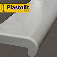 Прочный подоконник Plastolit Мрамор Матовый, 350 мм