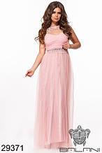 Нарядное платье шифоновое в пол в расцветках
