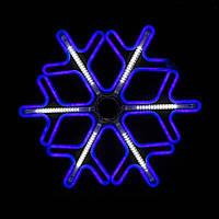 Новогодняя гирлянда уличная - Снежинка, разные цвета в ассортименте