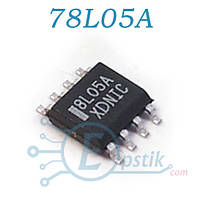 MC78L05ACDR2, стабилизатор напряжения +5В, 100mA, SOP8