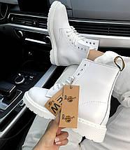 Женские зимние ботинки Dr. Martens 1460 White с мехом, фото 3