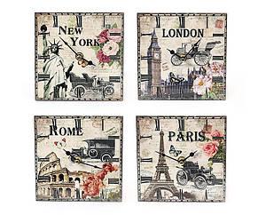 Часы настенные керамическая плитка Города мира BonaDi 487-213