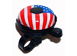Звонок велопедный стальной флаг США