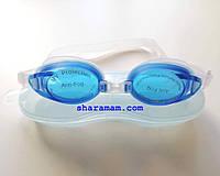 Детские/подростковые очки для плавания, цвет белый/синий, антифог, фото 1