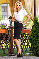 Женская черная юбка-карандаш, фото 1
