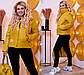 """Женская демисезонная куртка в больших размерах на синтепоне 1196 """"Плащёвка Стойка Шеврон"""" в расцветках, фото 3"""