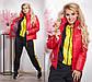 """Женская демисезонная куртка в больших размерах на синтепоне 1196 """"Плащёвка Стойка Шеврон"""" в расцветках, фото 4"""