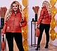 """Женская демисезонная куртка в больших размерах на синтепоне 1196 """"Плащёвка Стойка Шеврон"""" в расцветках, фото 7"""