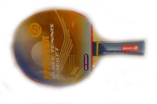 Ракетка Ping Pong для начинающих игроков (однослойная без губки+жесткая) Н007, фото 2
