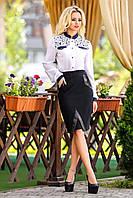 Женская классическая черная юбка
