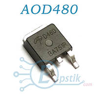AOD480, Mosfet транзистор N channel, 25V 25A, TO252