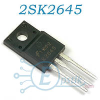 2SK2645, Mosfet транзистор N канал, 600В 9А, TO220F