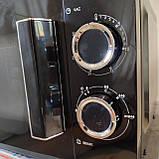 Микроволновая печь Grunhelm 20MX68-LB черная (мощность 800 Вт), фото 4