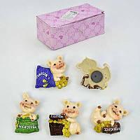 Магнит на холодильник Свинки с пожеланиями C 30152 (48) /ЦЕНА ЗА БЛОК/ 12шт в блоке