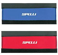 Защита пера Spelli SPL-810 на липучке, СИНЯЯ Неопреновая, с белым логотипом