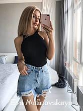 Шорты женские короткие джинсовые