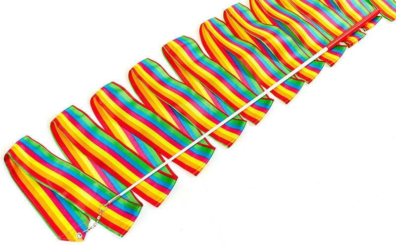 Лента гимнастическая радужная - 6 м