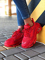 Женские Кроссовки Balenciaga Triple S Clear Sole Red