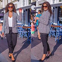 Костюм стильный тройка (пиджак+ майка+ брюки) в расцветках