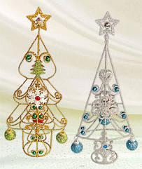 Декоративная елка с шарами 35см, 2 вида BonaDi 138-E13