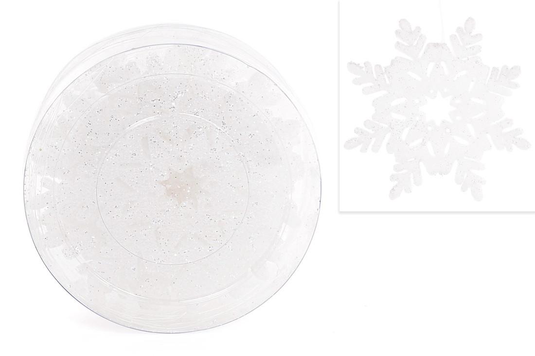 Набор декоративных снежинок 10см, 8 шт, цвет - белый BonaDi 787-078