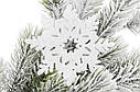 Набор декоративных снежинок 10см, 8 шт, цвет - белый BonaDi 787-078, фото 2