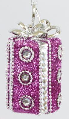 Елочное украшение Подарок, 11см BonaDi 144-321