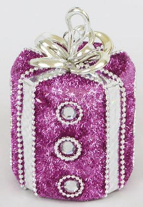 Елочное украшение Подарок, 11см BonaDi 144-322