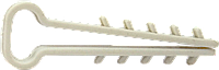 Дюбель-ёлочка для плоского кабеля | Дюбель-ялинка 12x5мм д/пл.кабелю [SC0000000KTEP12000]