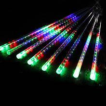Гирлянда Сосулька светодиодная, 8шт., 60 см (Белая /Синяя/ Мульти) соединяется 3 м в длину