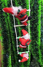 Новогодние Фигуры 3 Деда Мороза по 25 см на лестнице фигурки Санта Клауса, фото 2