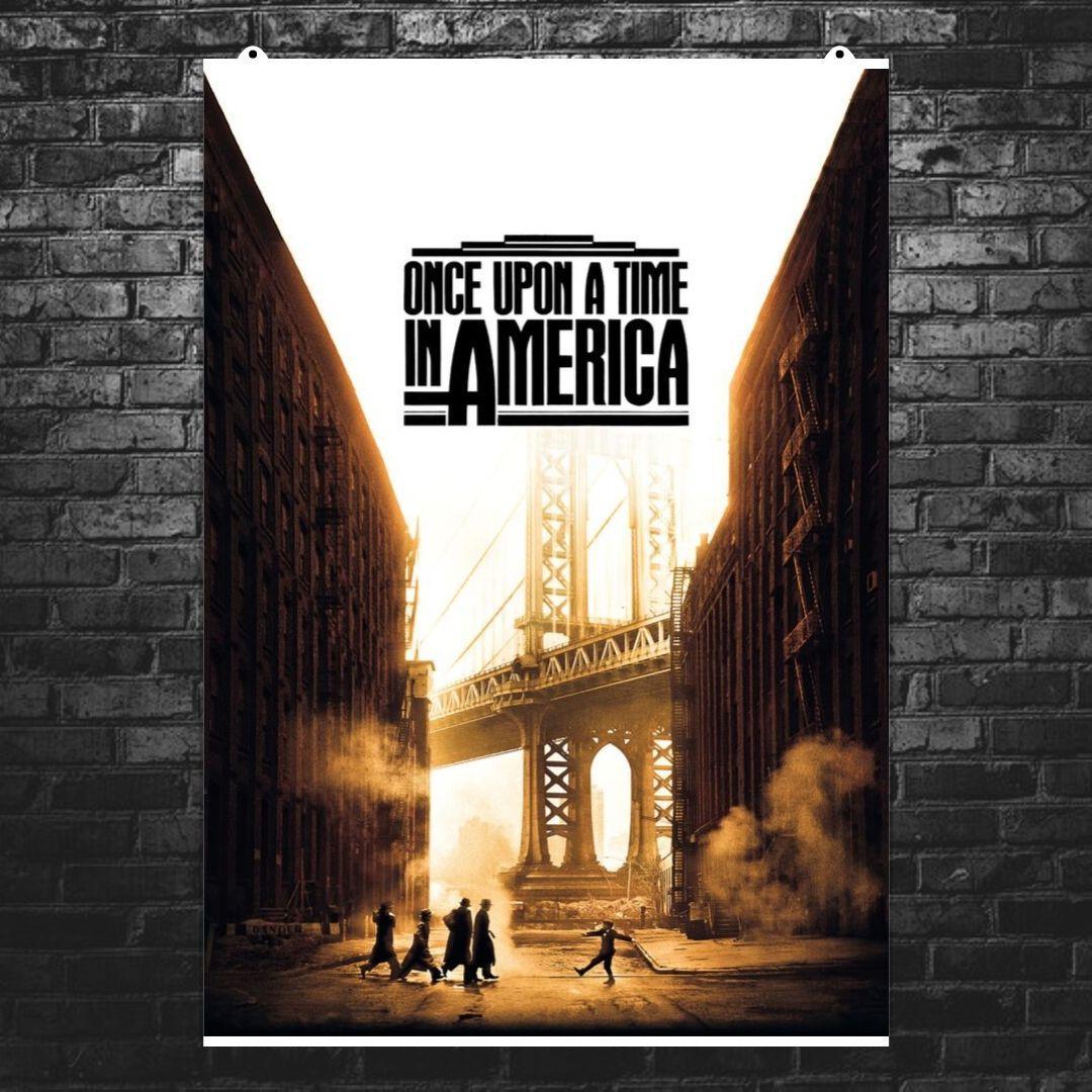 "Постер ""Однажды в Америке"". Once Upon A Time In America, постер №2. Размер 60x40см (A2). Глянцевая бумага"
