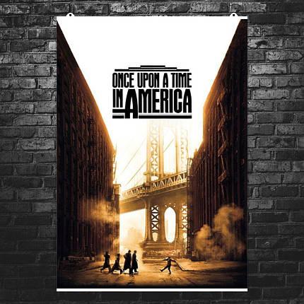 "Постер ""Однажды в Америке"". Once Upon A Time In America, постер №2. Размер 60x40см (A2). Глянцевая бумага, фото 2"