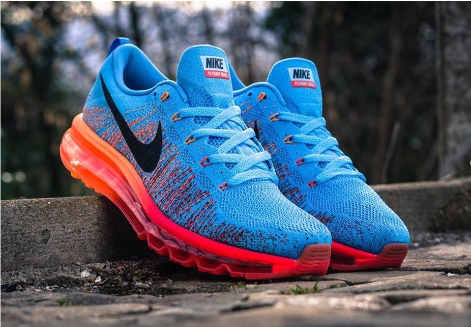 Кроссовки Nike Air Max Flyknit 2015 Blue Orange - Интернет-магазин