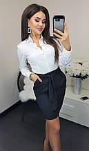 Юбка женская прямая с карманами в расцветках