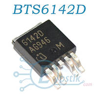 BTS6142D, mosfet транзистор N канал, 33В 8А, TO252-5