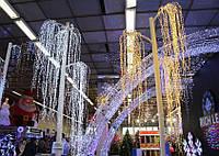 """Гирлянда """"Конский хвост"""" пучок 28 нитей по 3 м, 600 мини- LED  мигает каждая 3 лампа"""