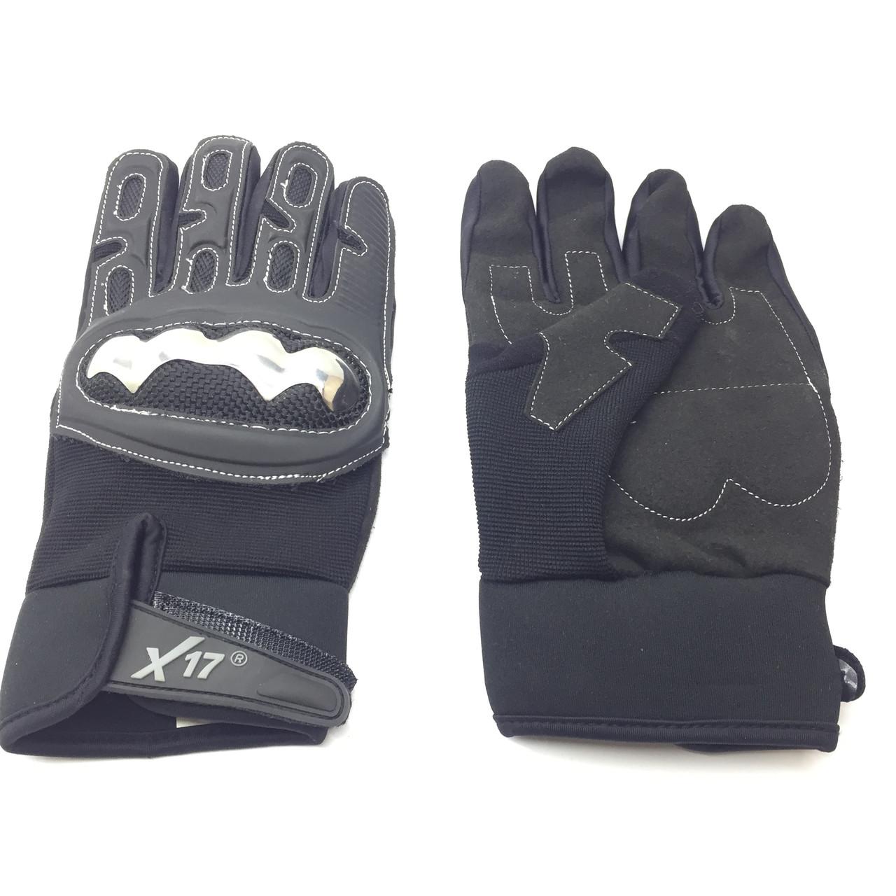 Перчатки велосипедные X17 XGL-755BK закрытые, черные, L