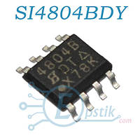 SI4804BDY, (4804B), MOSFET транзистор N канал, 30В, 7.5А, SOP8